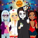 Partido adulto Selfie de Dia das Bruxas ilustração do vetor