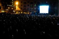 Partido al aire libre en la noche Fotos de archivo