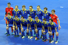 Partido amistoso Ucrania v España de Futsal Fotografía de archivo libre de regalías