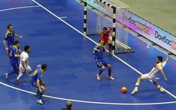 Partido amistoso Ucrania v España de Futsal Fotos de archivo