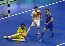 Partido amistoso Ucrania v España de Futsal Foto de archivo