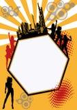 Partido anaranjado de la ciudad Imagen de archivo libre de regalías