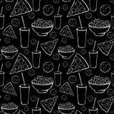 Partido blanco negro de la noche de película del Sleepover del vector Imagen de archivo libre de regalías