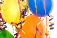 Partido, carnaval y cumpleaños de la decoración Imagenes de archivo