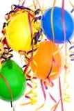 Partido, carnaval y cumpleaños de la decoración Imagen de archivo libre de regalías