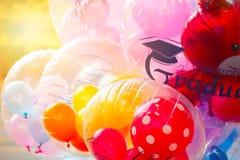 Partido colorido do balão das felicitações Foto de Stock Royalty Free