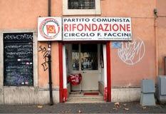 Partido comunista de Itália Fotografia de Stock