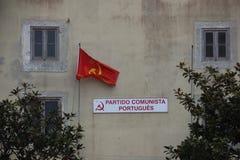 Partido Comunista de Portugal Imagen de archivo libre de regalías