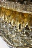 Partido con el vino espumoso Imagen de archivo
