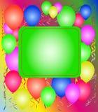 Partido con los globos Fotografía de archivo libre de regalías