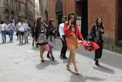 Partido da celebração da graduação em Siena imagens de stock royalty free