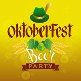 Partido da cerveja de Oktoberfest Foto de Stock