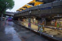 Partido da cor de Londres, London Eye especial imagem de stock