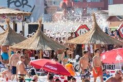 Partido da espuma da praia Foto de Stock Royalty Free