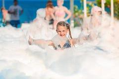 Partido da espuma na praia Foto de Stock
