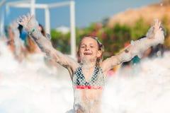 Partido da espuma na praia Foto de Stock Royalty Free