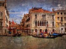 Partido da gôndola, Veneza Foto de Stock Royalty Free