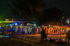 Partido da Lua cheia em Koh Phangan Fotografia de Stock Royalty Free