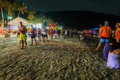 Partido da Lua cheia em Koh Phangan Imagens de Stock