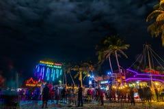 Partido da Lua cheia em Koh Phangan Imagem de Stock