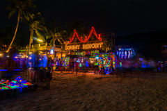 Partido da Lua cheia em Koh Phangan Fotografia de Stock