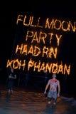 Partido da Lua cheia no Koh Phangan da ilha, Tailândia Imagem de Stock Royalty Free