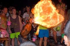 Partido da Lua cheia, Tailândia Fotos de Stock Royalty Free