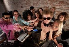 partido da música do disco dos anos 70 Foto de Stock