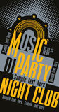 Partido da música do DJ Imagens de Stock Royalty Free