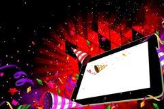 Partido da noite do PC da tabuleta Imagens de Stock Royalty Free