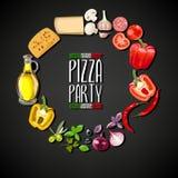 Partido da pizza Imagem de Stock