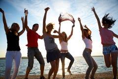 Partido da praia Fotografia de Stock Royalty Free