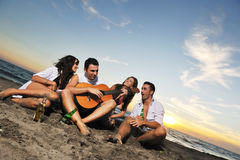 Partido da praia Foto de Stock