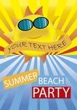 Partido da praia do verão Fotos de Stock Royalty Free