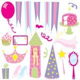 Partido da princesa da menina Fotografia de Stock Royalty Free