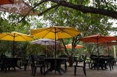 Partido da tabela do guarda-chuva Imagem de Stock