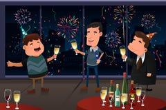 Partido da véspera de ano novo interno Fotografia de Stock Royalty Free