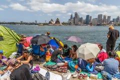 Partido da véspera do ` s de Sydney New Year foto de stock royalty free