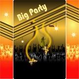 Partido, dança dos povos Foto de Stock Royalty Free