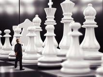 Partido de ajedrez imagen de archivo libre de regalías
