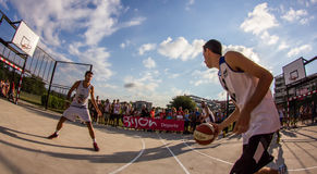 partido de baloncesto 3x3 Imagenes de archivo