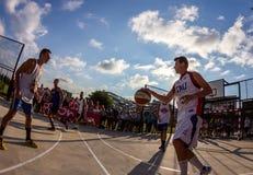 partido de baloncesto 3x3 Imagen de archivo libre de regalías