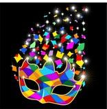 Partido de Carneval de la máscara del arlequín stock de ilustración