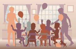 Partido de casa stock de ilustración