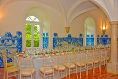 Partido de cena, decoración de las tablas de banquete, boda o evento del cumpleaños Foto de archivo libre de regalías