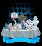 Partido de chá ilustração stock