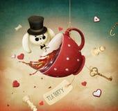 Partido de chá ilustração royalty free