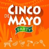 Partido de Cinco de Mayo stock de ilustración