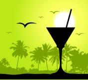 Partido de Coctail na praia ilustração stock