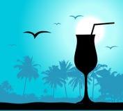 Partido de Coctail na praia ilustração royalty free